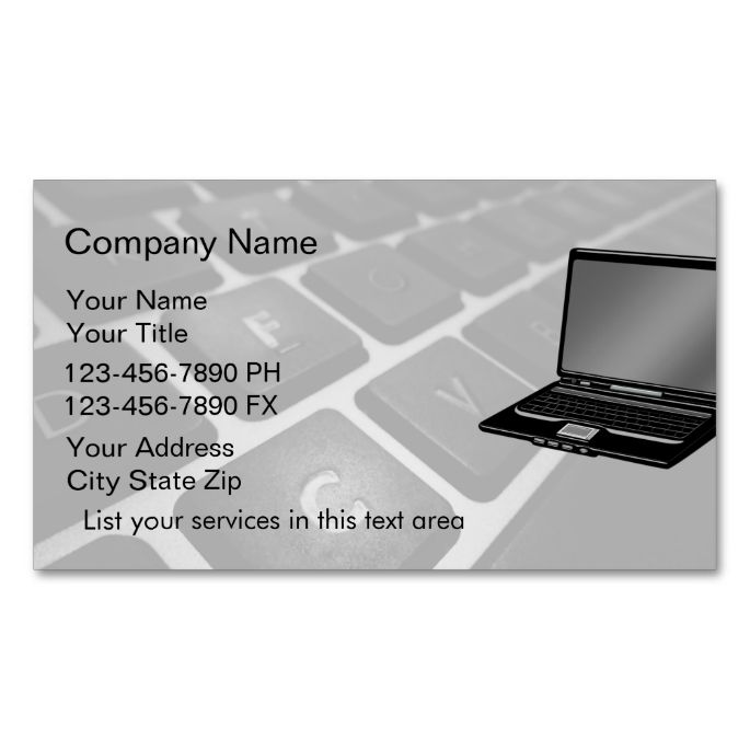 simple computers business cards  zazzle