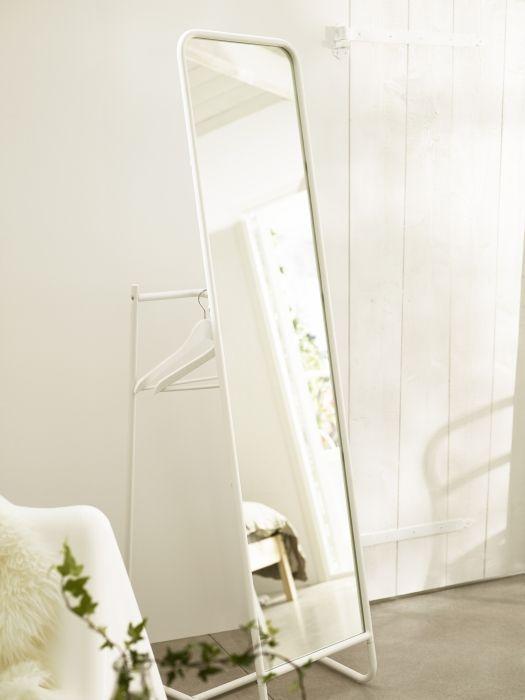 KNAPPER Staande spiegel, wit