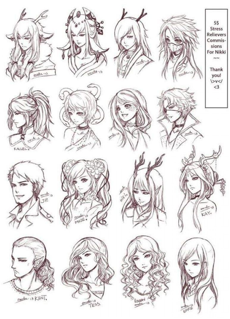 Photo of Anime Hair Reference Material