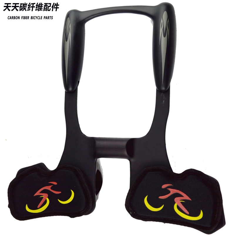 113.05$  Buy now - http://ali5to.worldwells.pw/go.php?t=32592760655 - Superlogic carbon fiber  vice bicycle accessories Bike Cycle Clip On Triathlon Bars Clip On Tri Bars rest TT handlebar