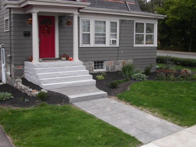 Front step ideas entrances and steps become a work of for Front door steps ideas
