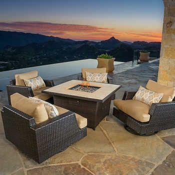 Portofino Comfort – Salon de jardin 5 pièces à fauteuils clubs ...