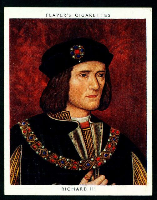 Player's, Kings & Queens of England (large size) 1935. No18 Richard III (reigned 1483-85)