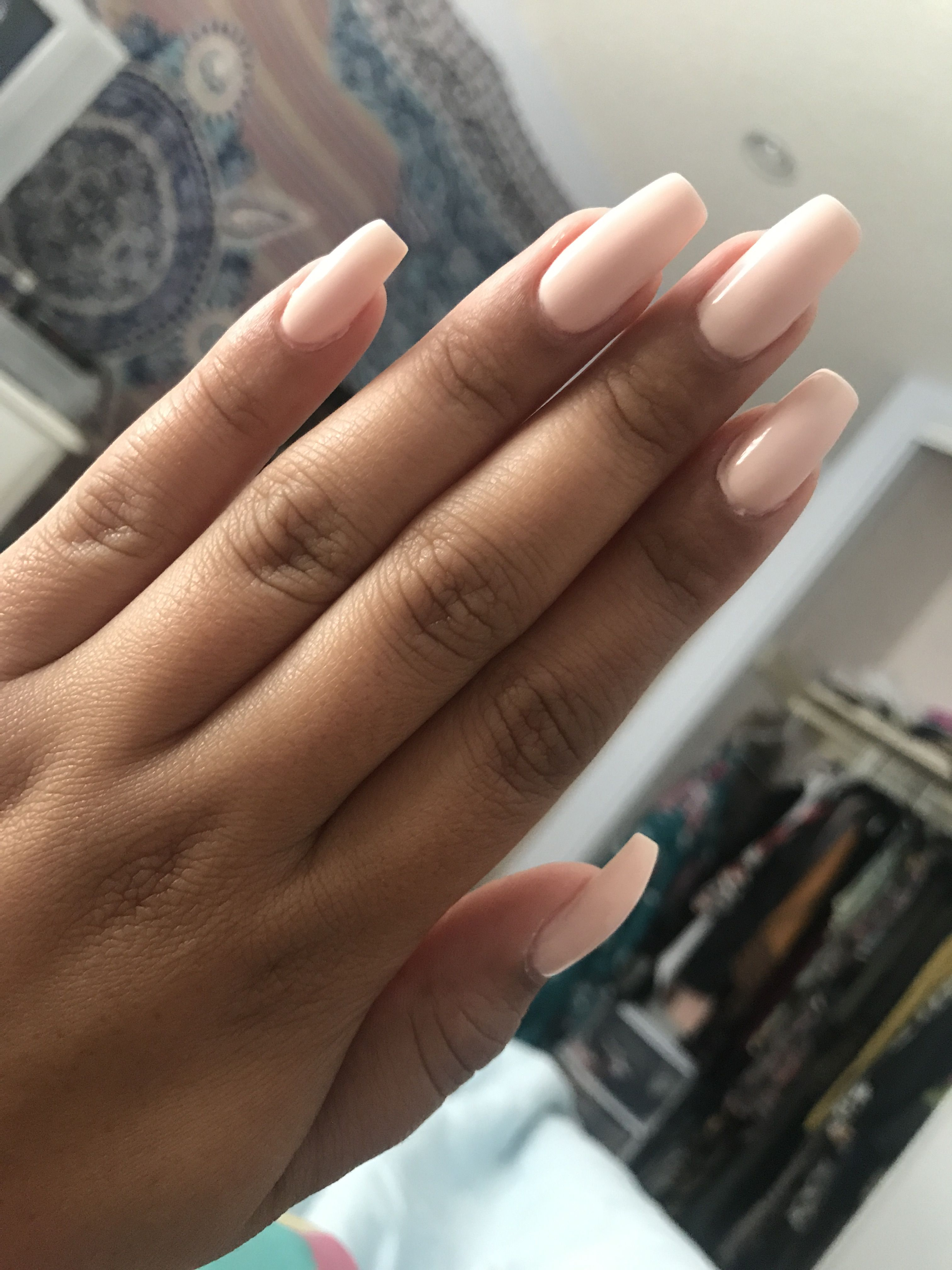 "Amo Nudes nude nails ""stop i'm blushing"" 