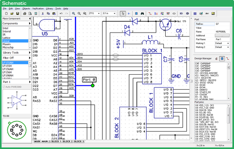Diptrace Schematic Capture Pcb Design Software Software Design Pcb Design