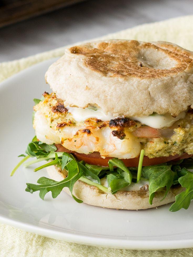 Tender Grilled Shrimp Burgers