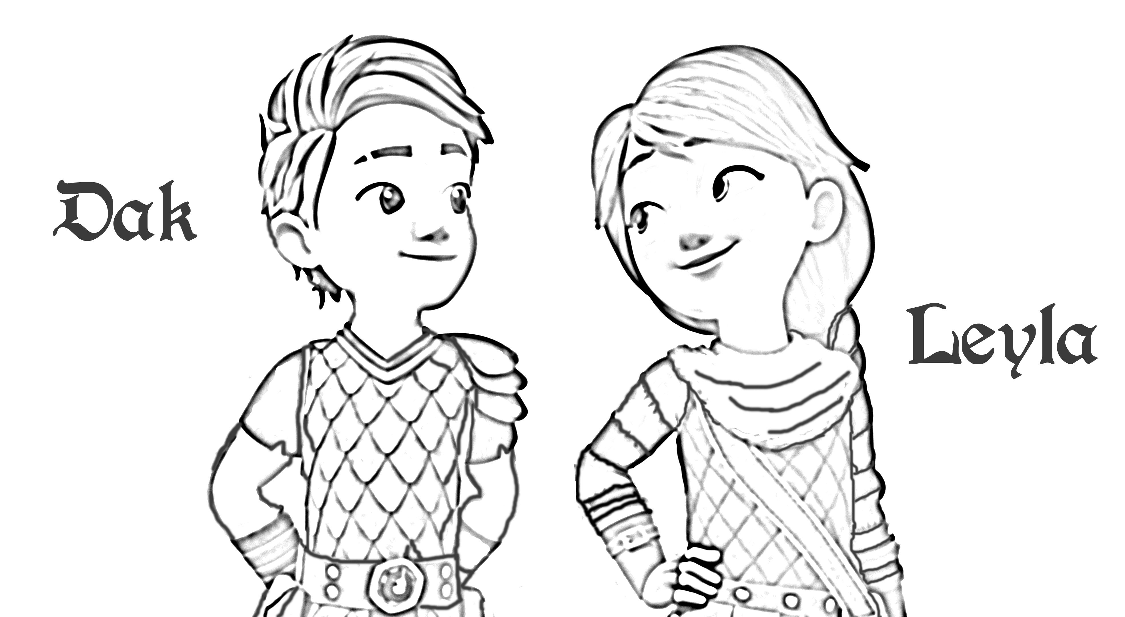 Dak Leyla Dragons Rescue Riders Coloring Page  Coloring pages