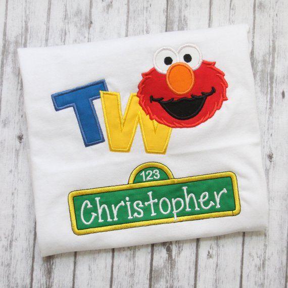 Elmo Birthday Shirt 2nd Seasame Street Embroidered