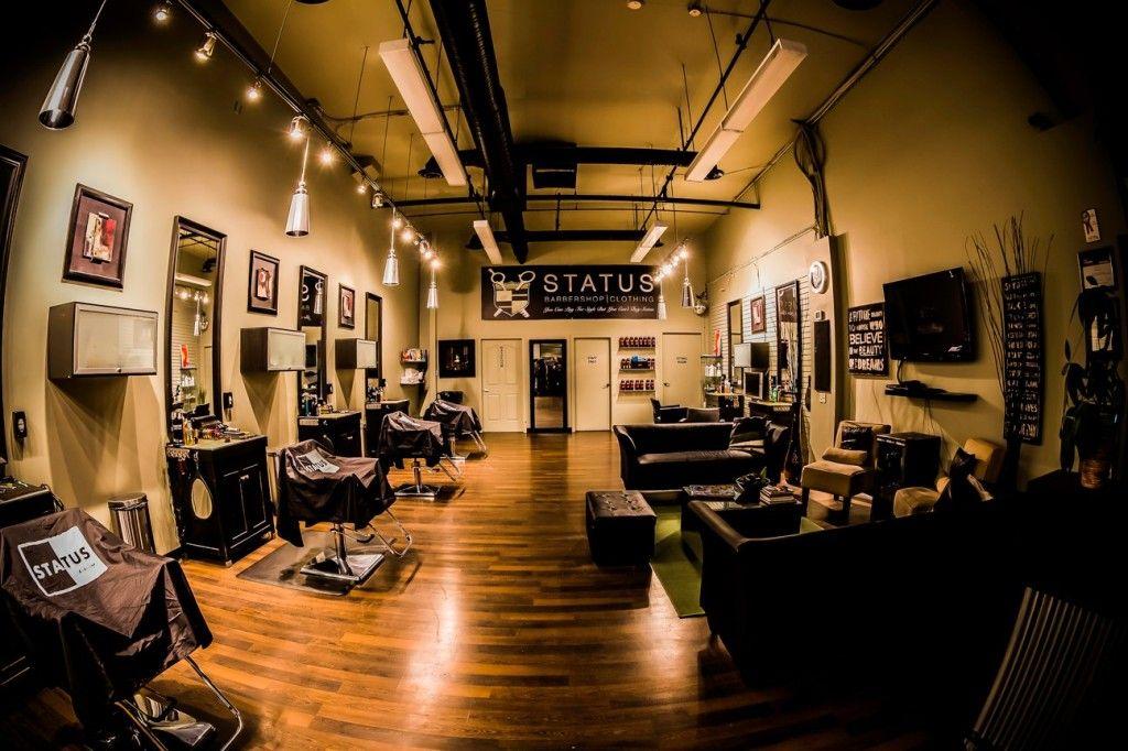 Barber Apparel : ... Looking Barber Shops on Pinterest Barber Shop, Barbers and Lounges