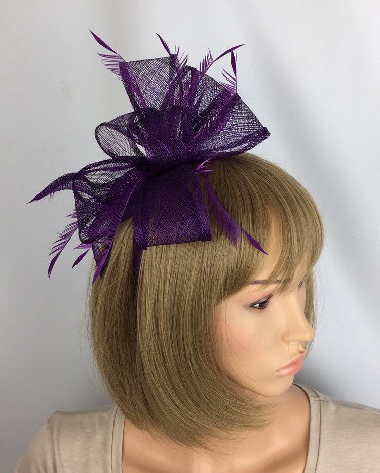 Purple Fascinator Plum Wedding Fascinator Mother of the Bride Ascot Races Ladies Day Occasion Event Hat #fascinatorstyles