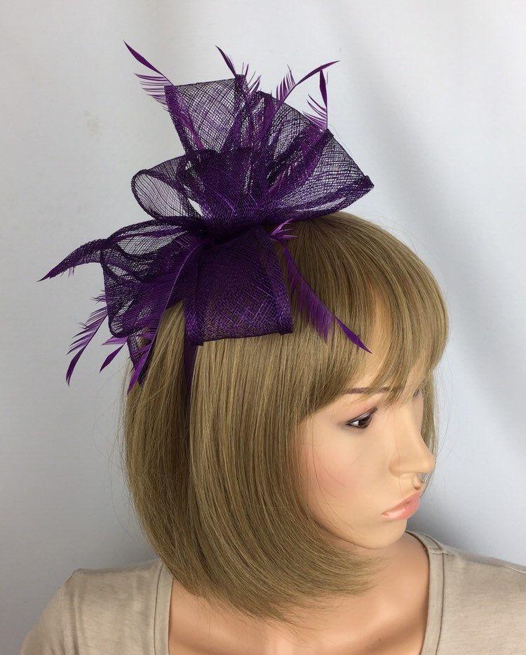 Purple Fascinator Plum Wedding Fascinator Mother of the Bride Ascot Races Ladies Day Occasion Event Hat #fascinatorstyles
