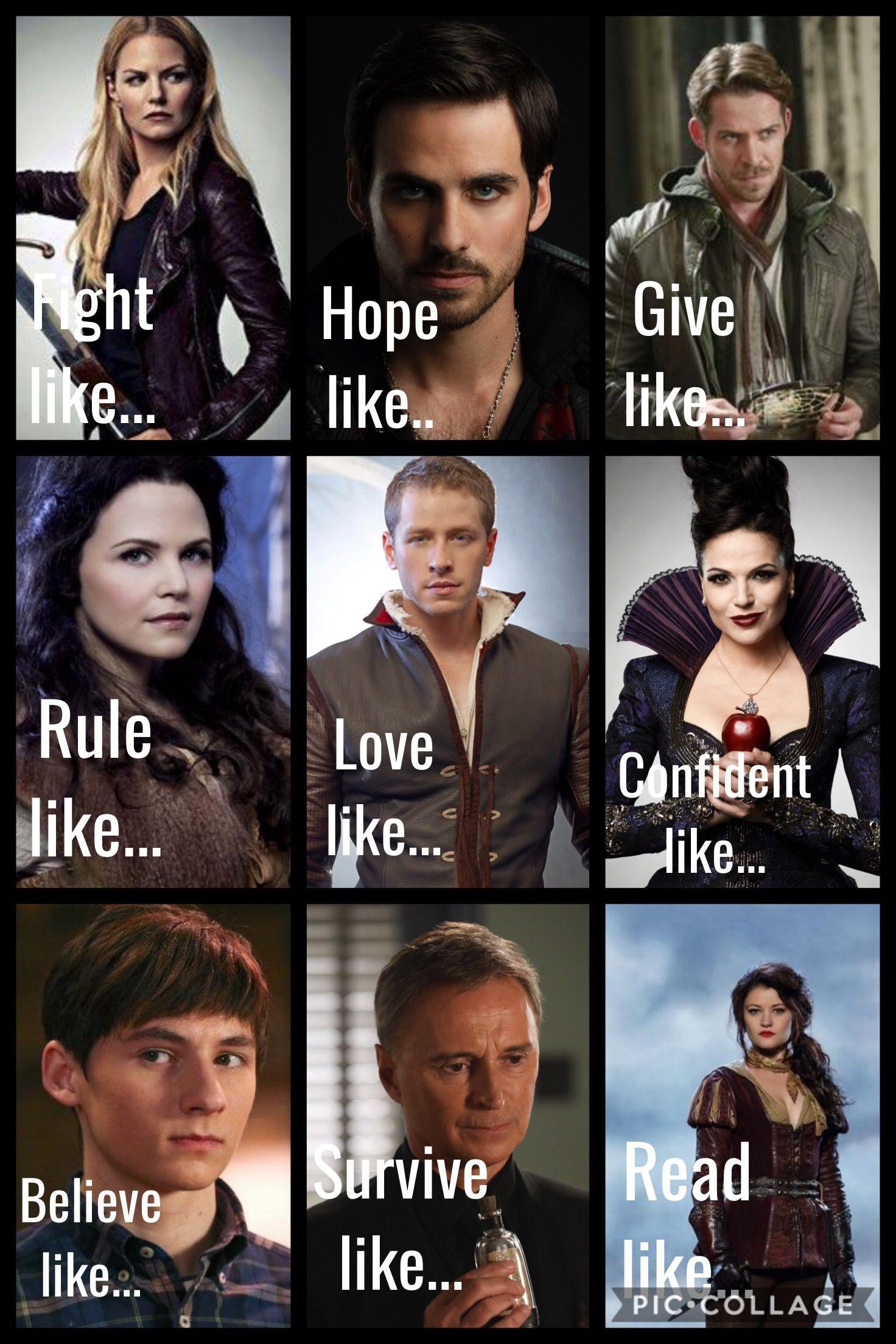 Emma Swan Captain Hookkillian Jones Robin Hood Snow White