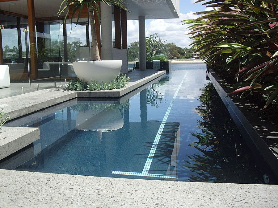Modern Lap Pool Designs with Alternative Placement | Dzuls Interiors