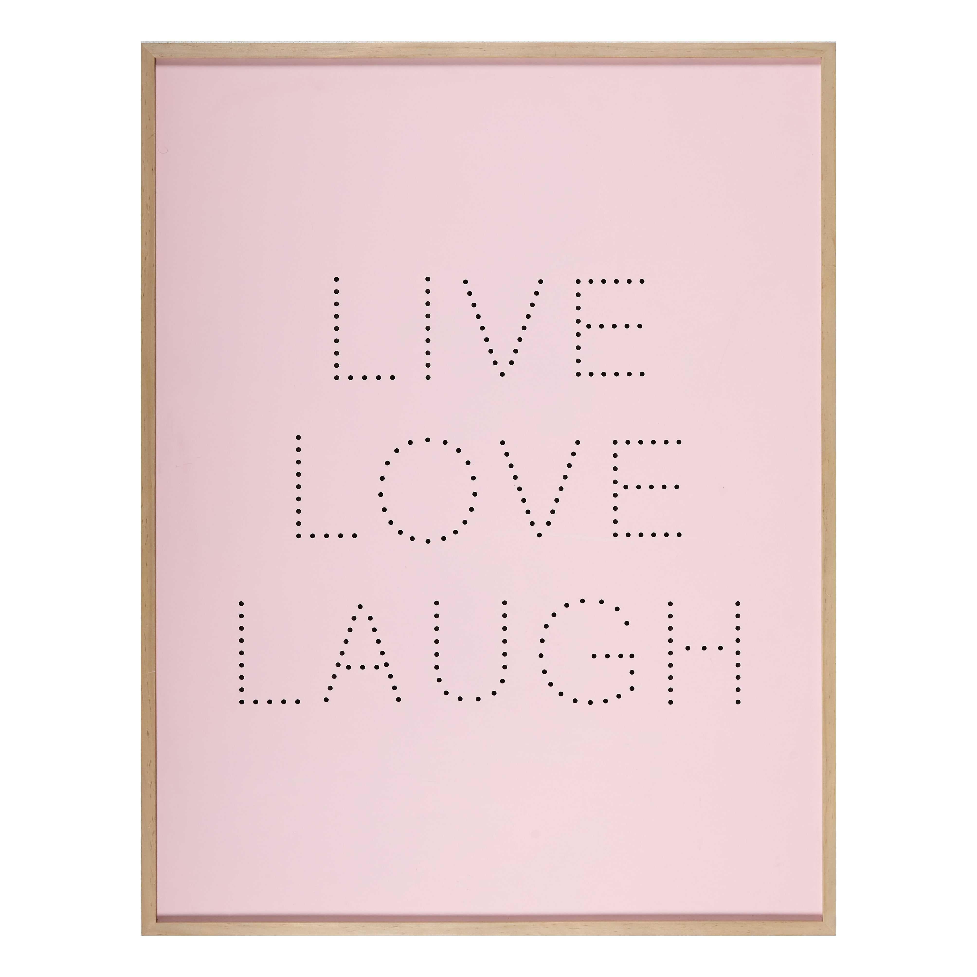 Cadre lumineux rose 70x90cm HAPPY SPIRIT   Ma chambre cosy parfaite ...
