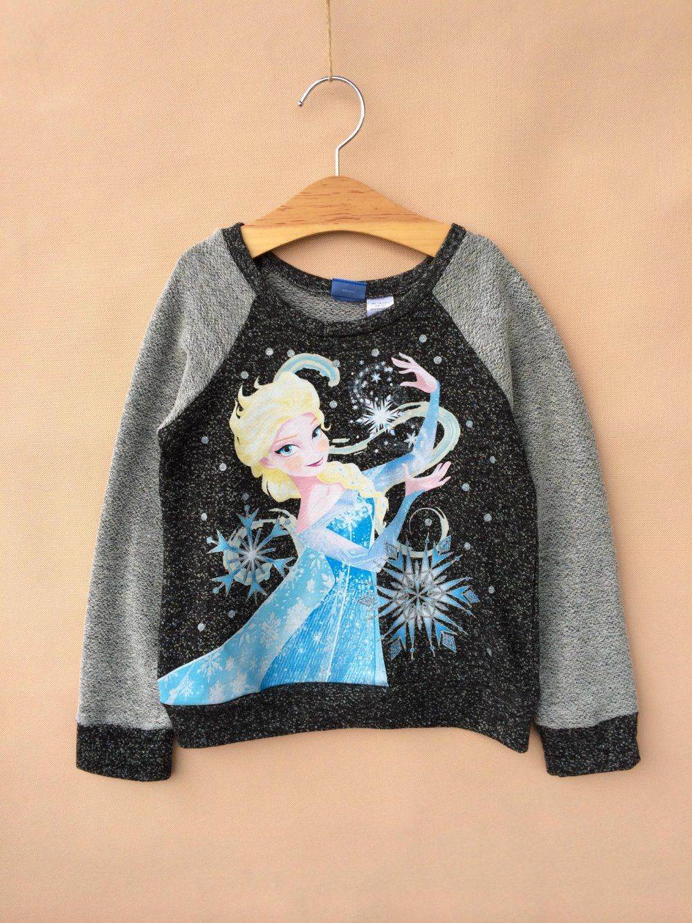 Free shipping  children clothing boys frozen ELSA  long sleeves t shirt top tops cotton shirts apparel US $63.00