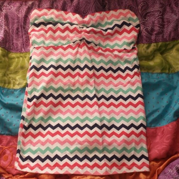 7c1566b780 Zig Zag Tube Top Zig zag striped tube top. Mint green