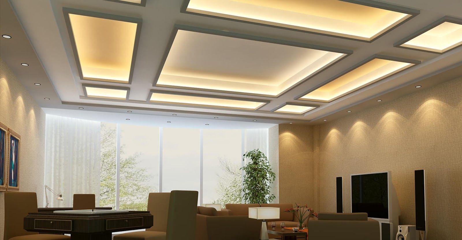 Latest Pop False Ceiling Designs For Living Room Interior Mo