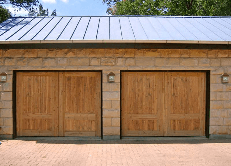Cedar wooden double garage door design | Garage | Pinterest | Double ...