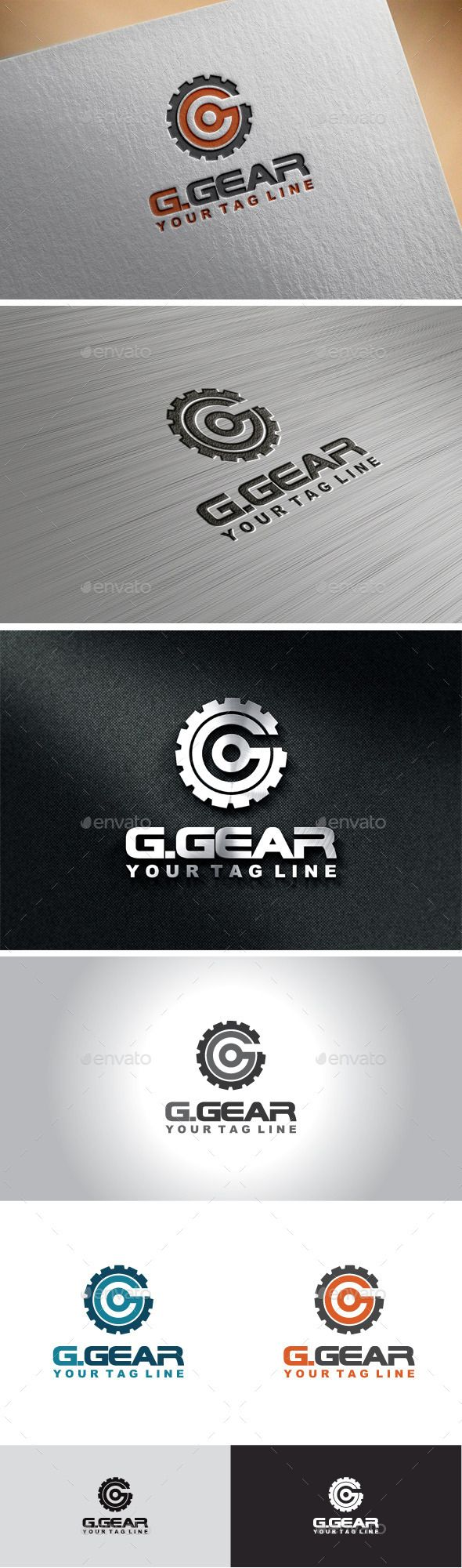 Gear Letter G Logo Design Template