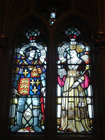 Stained Glass at Cardiff Castle - Richard III and Queen Anne