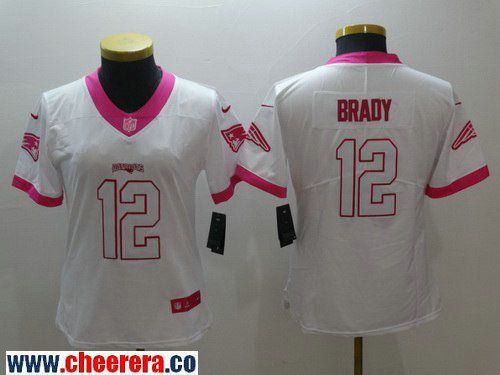 612a21231 ... jersey 401bc 0f14a  italy womens new england patriots 12 tom brady white  pink 2016 color rush fashion nfl nike