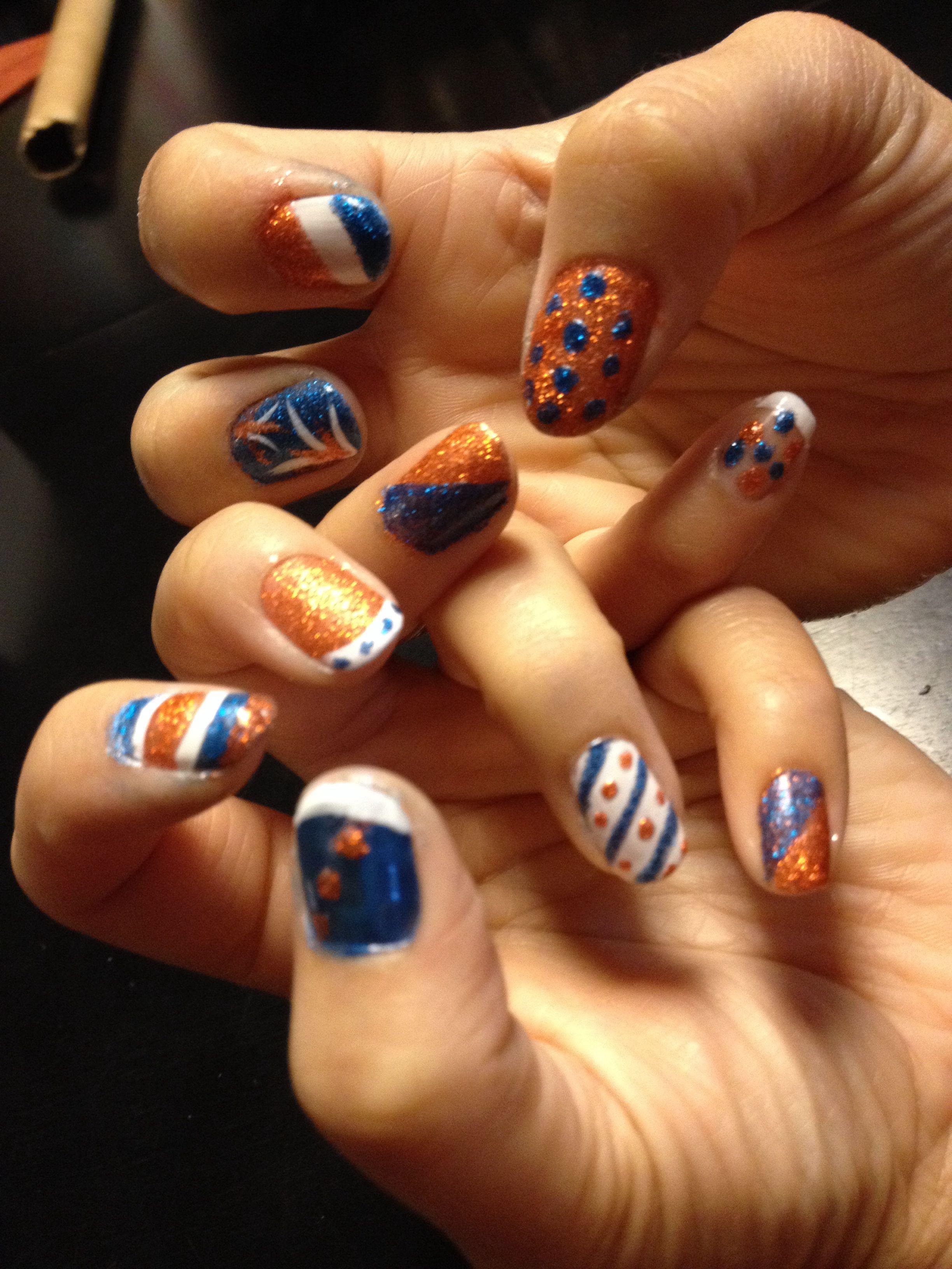 Denver Broncos nails   My Broncos   Pinterest   Denver broncos nails ...
