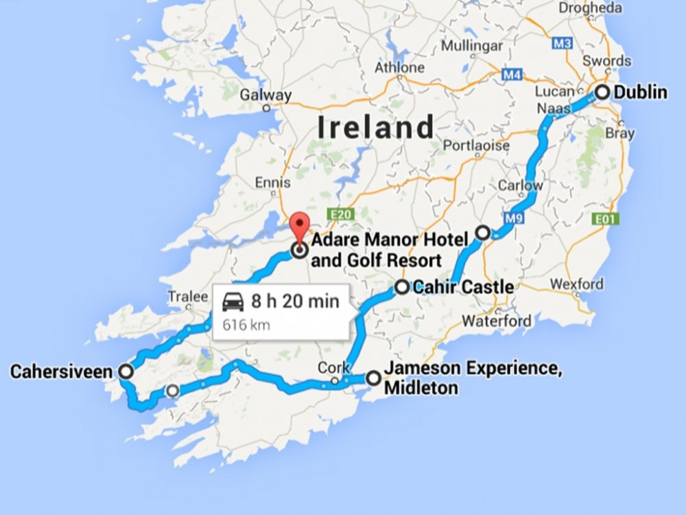 ireland map | en route | Ireland, Ireland map, Castle