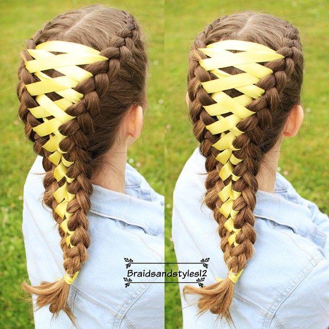 Diy Corset Braid By Braidsandstyles12 Tutorial Https Www Youtube Com Channel Uc8ouegibm1gnfaba Eofboq Softball Hairstyles Hair Styles Softball Hair Braids