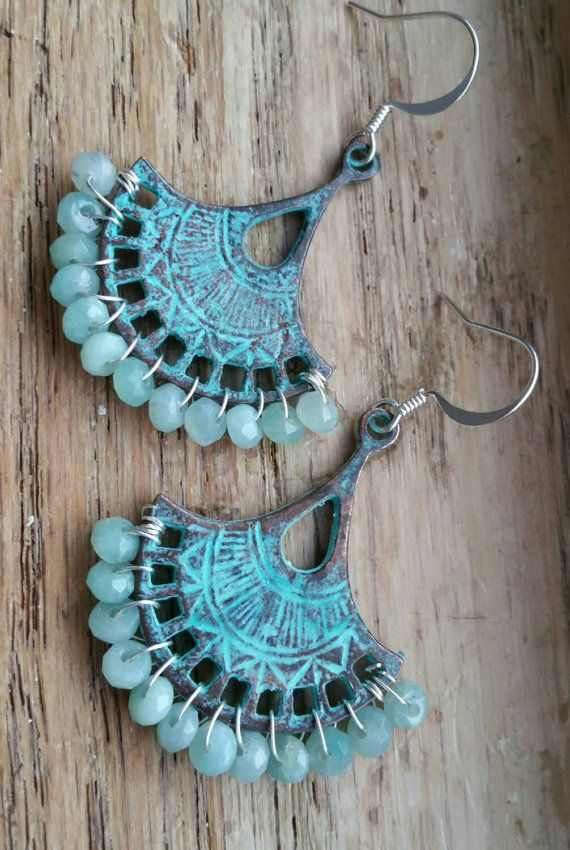 Check out this item in my Etsy shop https://www.etsy.com/listing/257994531/amazonite-earrings-boho-earrings-mykonos