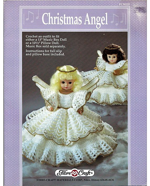 Christmas Angel Pillow Doll Music Box Doll Or Bed Doll Crochet
