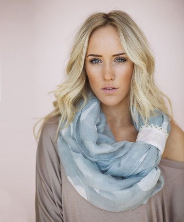 Look at this  zulilyfind! Gray   White Heart Cuff Infinity Scarf by ... 90e82749ec1