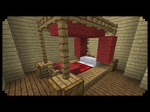 Minecraft How To Make A Poster Bed Youtube Minecraft