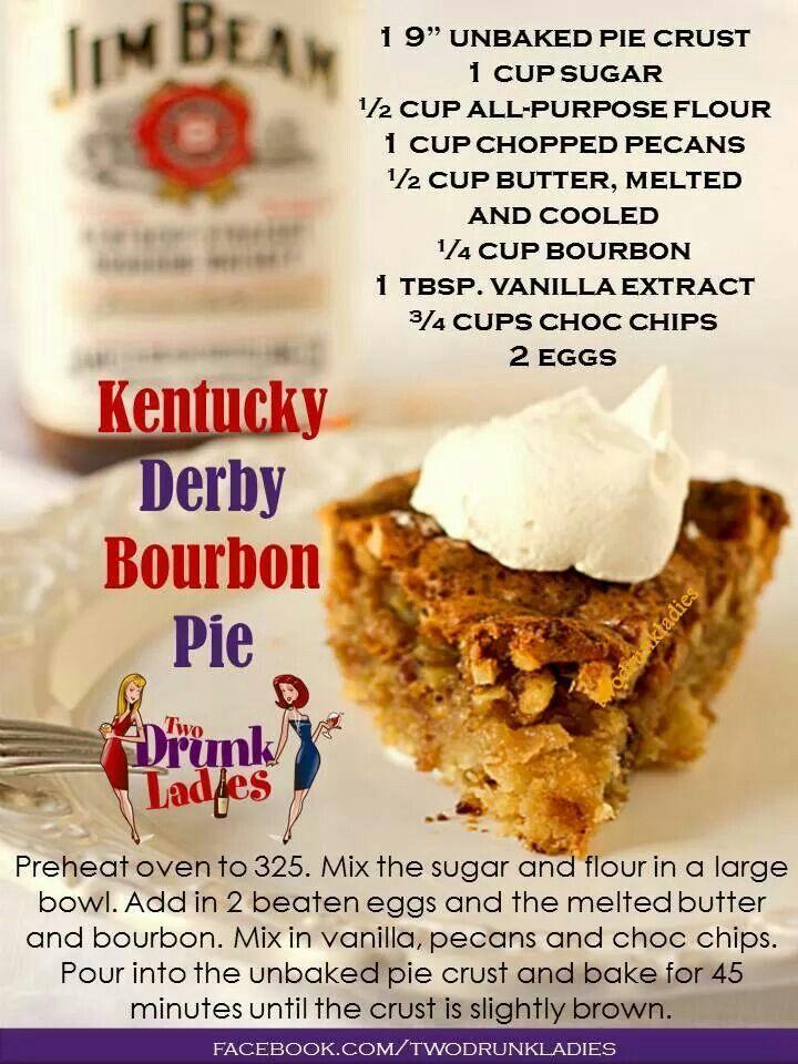Kentucky Derby Bourbon Pie