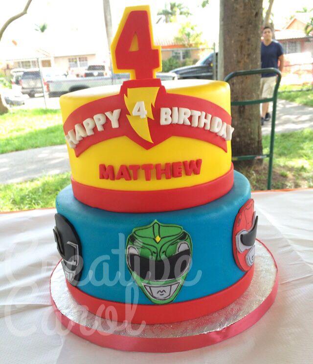 Strange My Sona 4Th Birthday Cake Of Power Rangers Made By Natalia Personalised Birthday Cards Veneteletsinfo
