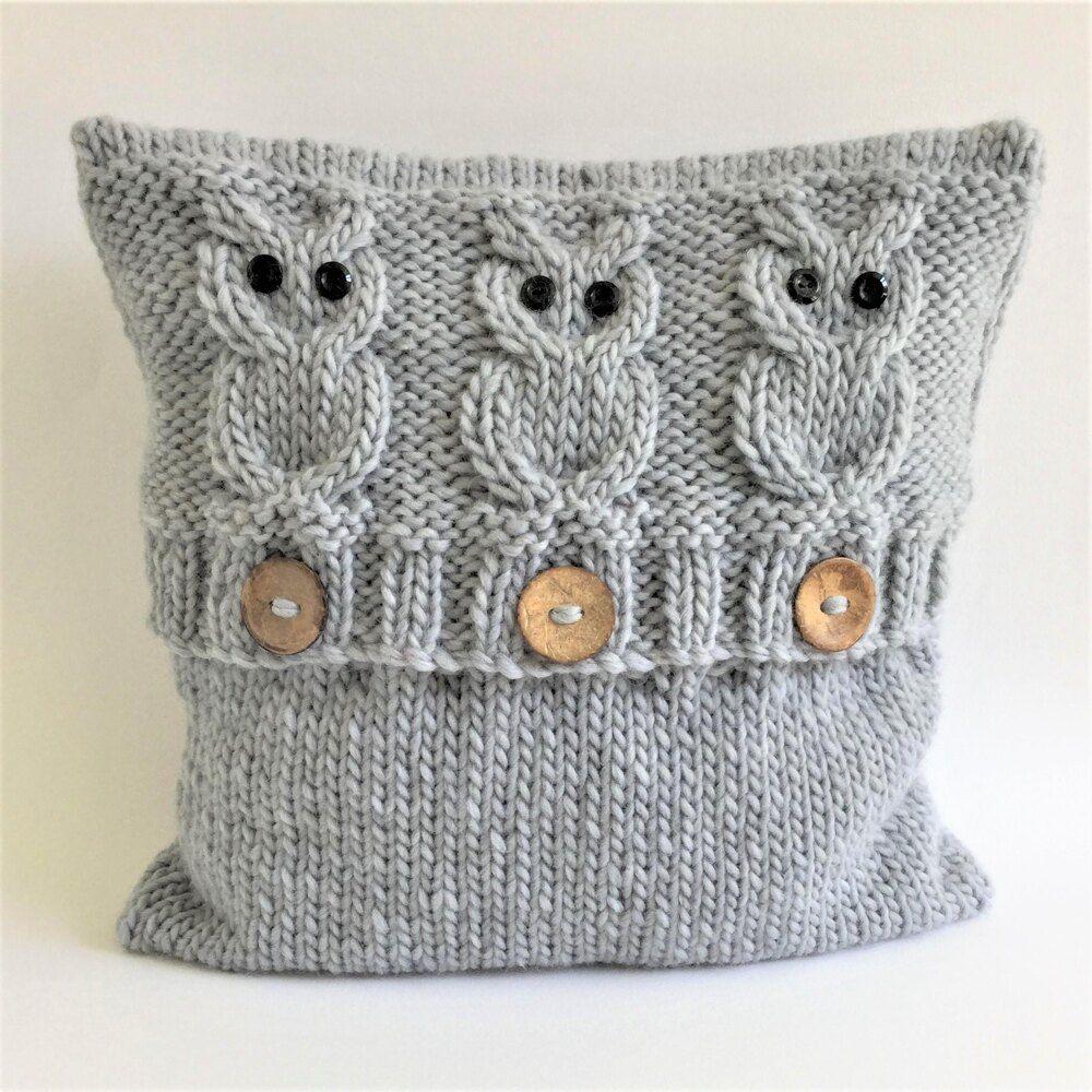 3 Wise Owls Cushion Cover 3 Wise Owls Cushion Cove