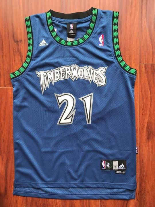 Men 21 Kevin Garnett Swingman Jersey Blue Minnesota Timberwolves Jersey a64fd063f