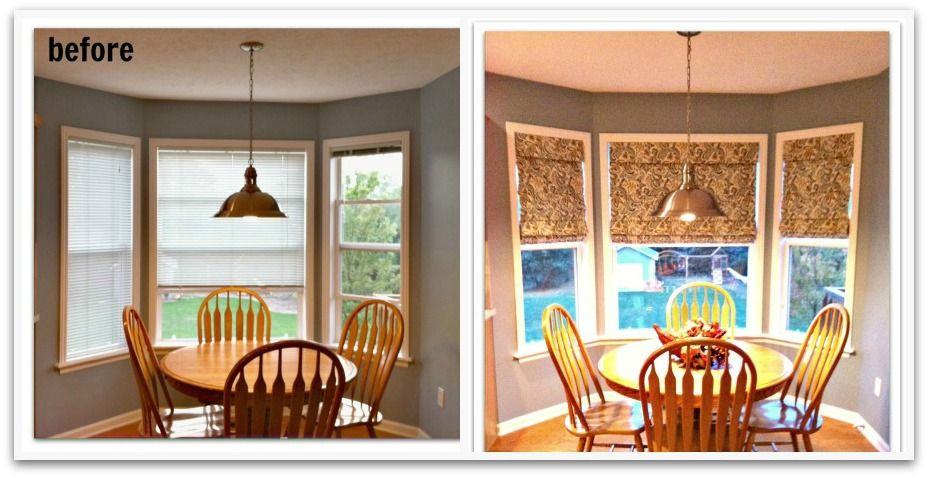 before and after roman shades