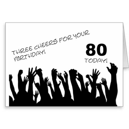 This Deals 80th Birthday Card With Cheering Waving Crowds You Will Get Best Price Offer