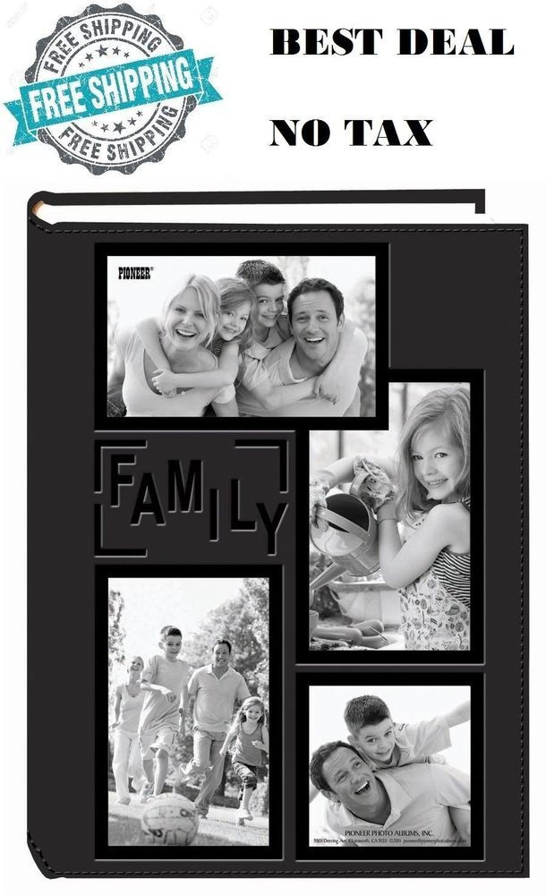 Pioneer 3 Up Album 300 4x6 Photo Sewn Embossed Leatherette Frame