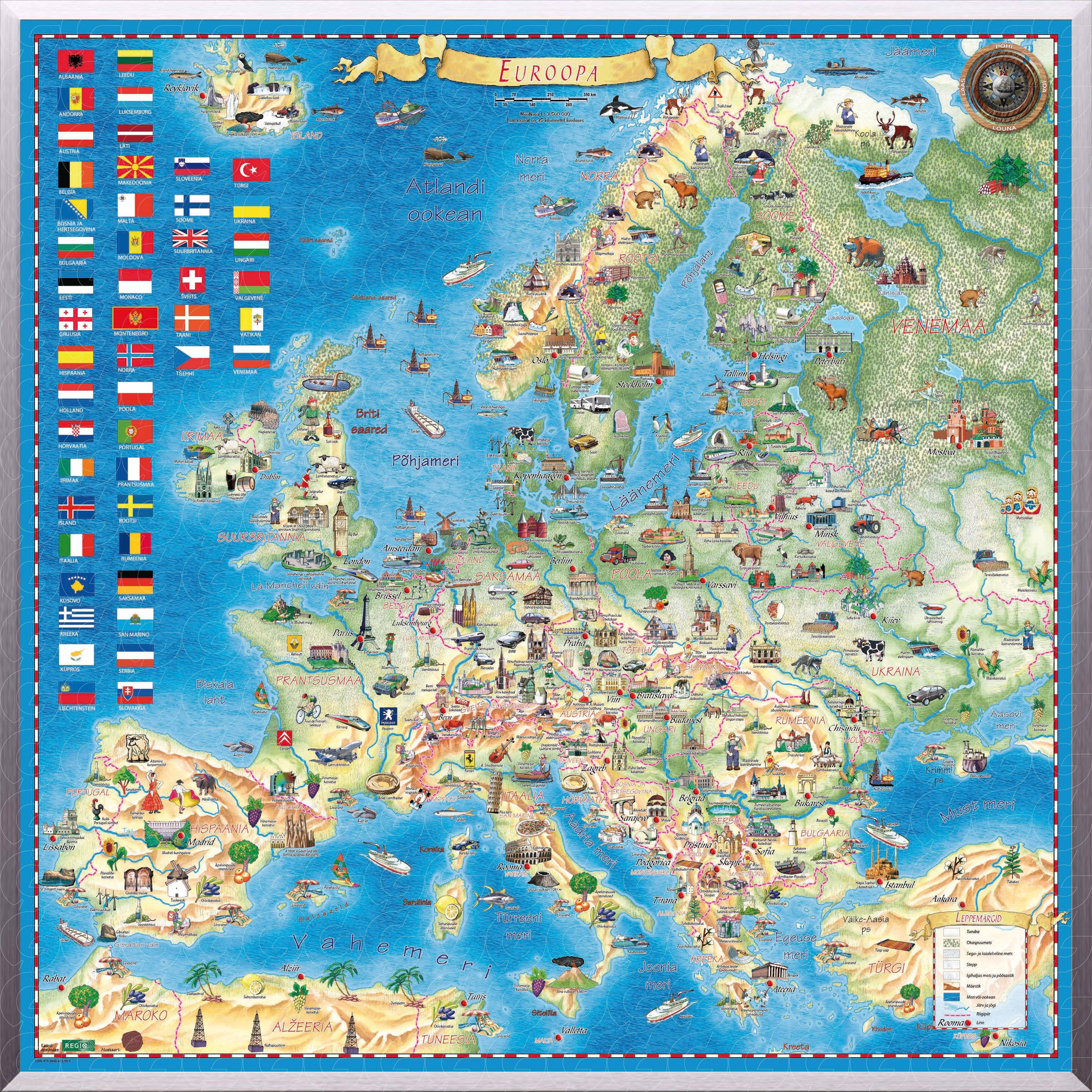 Free Printable Map Of Europe