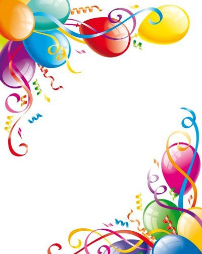 birthday party clip art borders Birthday Party Balloon Border