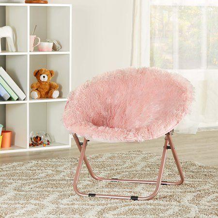 Pleasant Mainstays Kids Blair Plush Faux Fur Saucer Chair Multiple Theyellowbook Wood Chair Design Ideas Theyellowbookinfo
