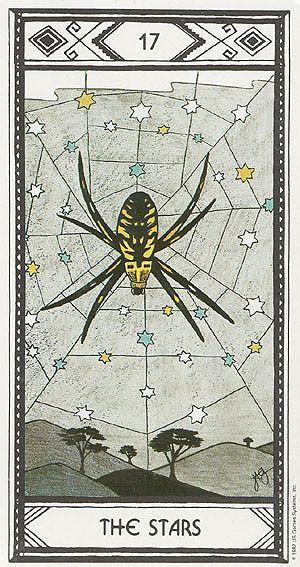 The Stars Tarot Card Art | Native American Tarot Deck | Modern