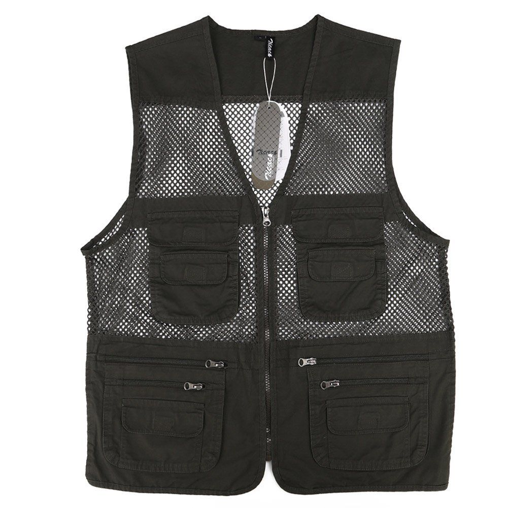 Zicac Outdoor Summer Hollow Out Thin Multipocketed Vest