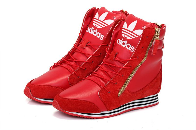 Adidas Originals Casual High Heeled Shoes Women Red Sale