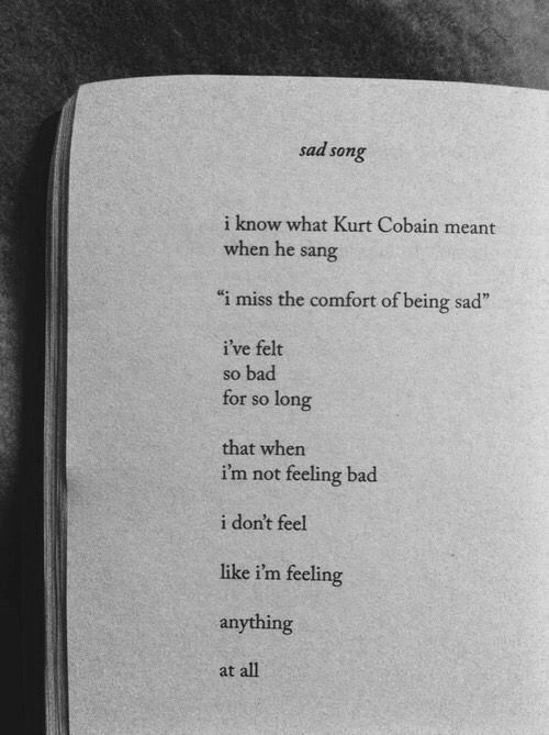 Feeling sadness, or nothing at all...