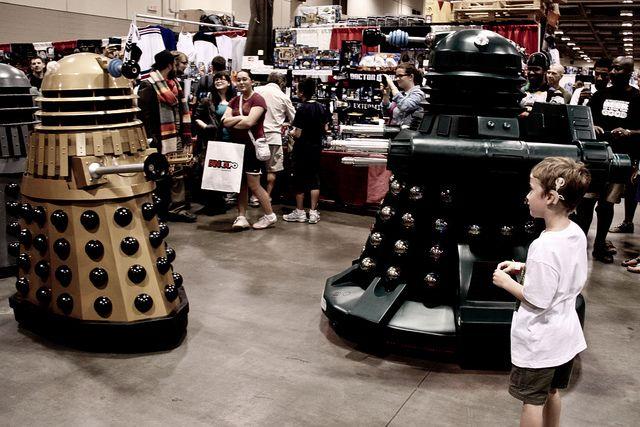 Kid Meets Daleks (jareed, 2012) via Flickr