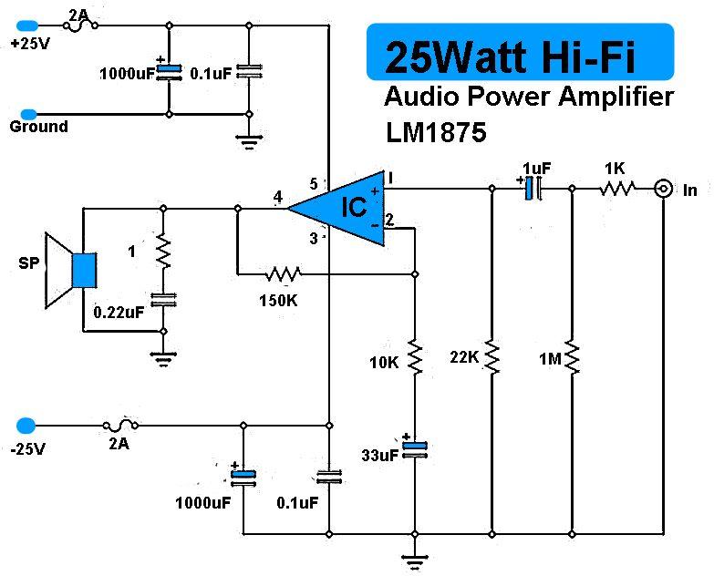 25w hi fi audio amplifier lm1875 loudspeaker pinterest audio rh pinterest com