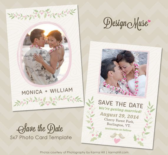 Save the Date Photo Card Template for Photographers - INSTANT DOWNLOAD on Etsy, $8.00