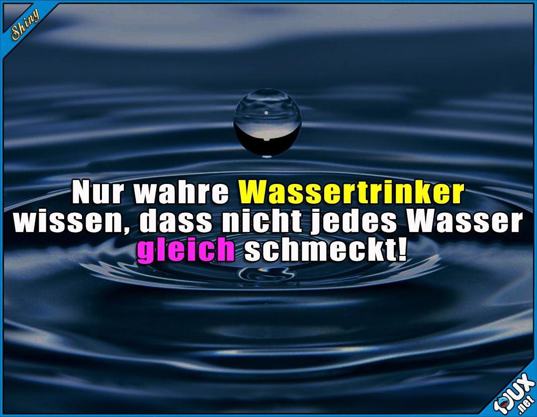 die schmecken alle anders! ^^ #wasser #deutschland #sowahr